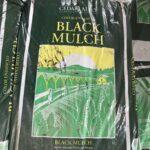 black dyed mulch-bagged
